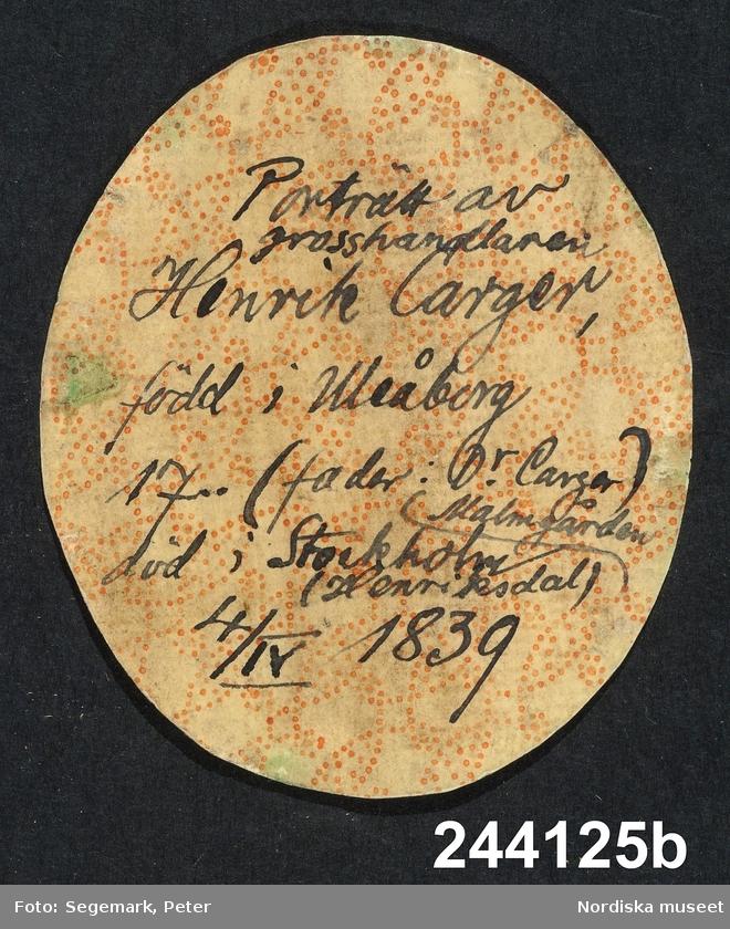 Medaljongporträtt