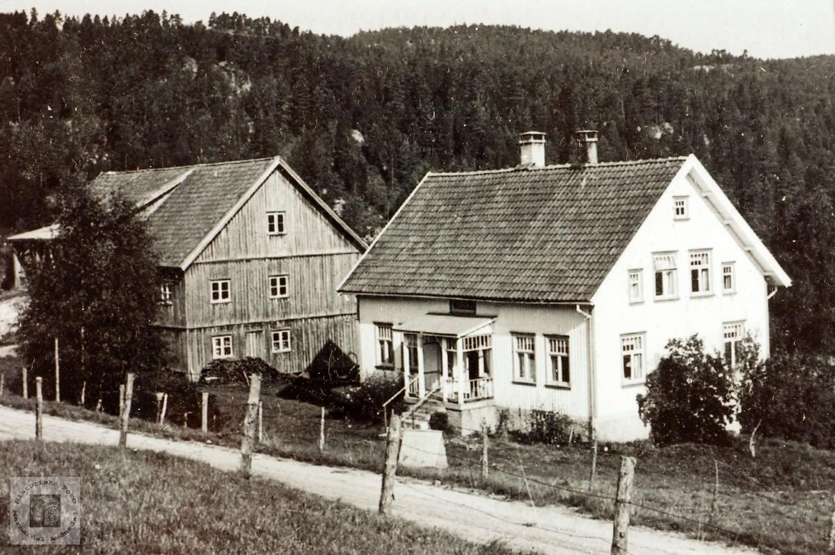 Bjørketun på Ubostad før ombygging. Grindheim.