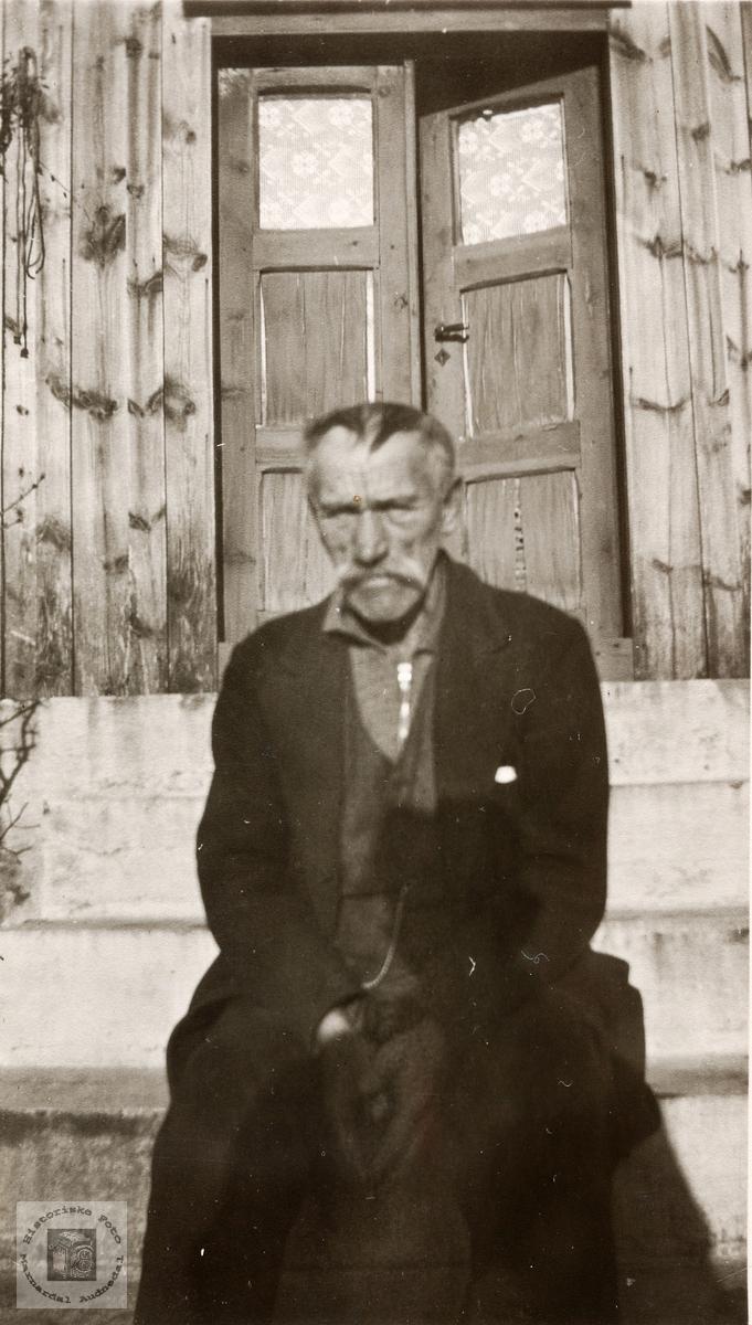 Portrett av Abraham Barstad. Konsmo Audnedal.