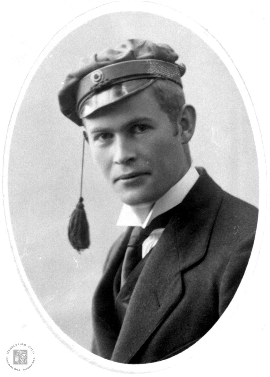 Portrett av Trygve Skjeggestad, Bjelland.
