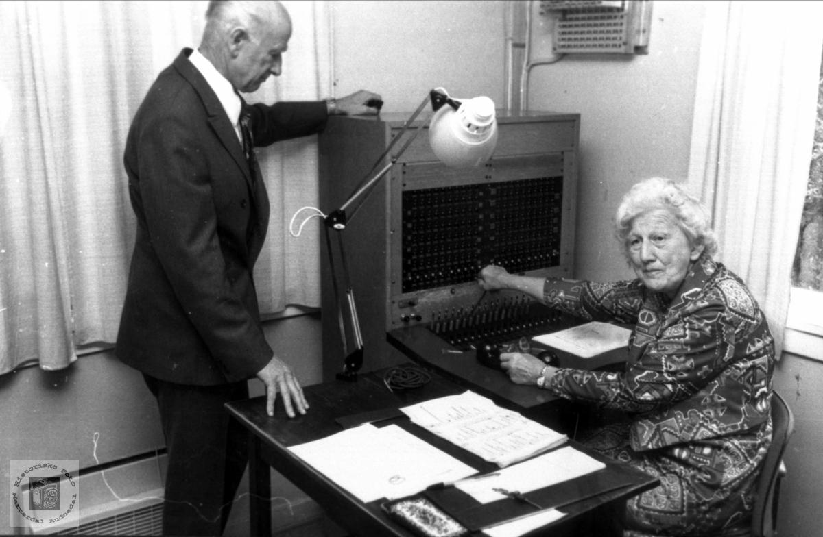 Telefonsentralen på Øyslebø.