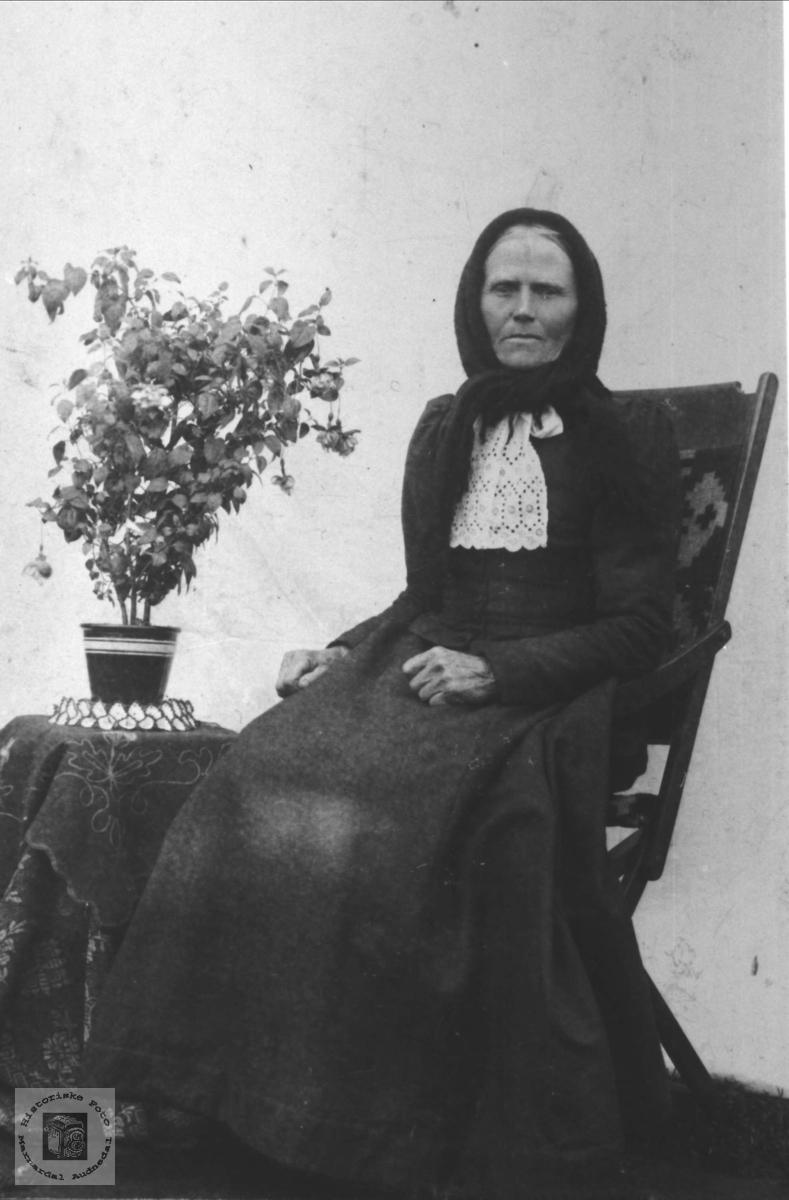 Portrett av Anna Aakseth, Laudal.