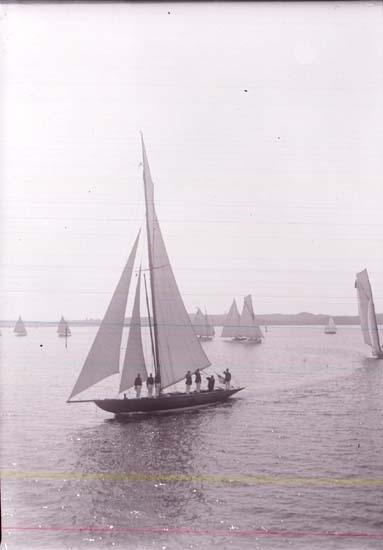 """Enligt text som medföljde bilden: """"Kappsegling 1913""""."""