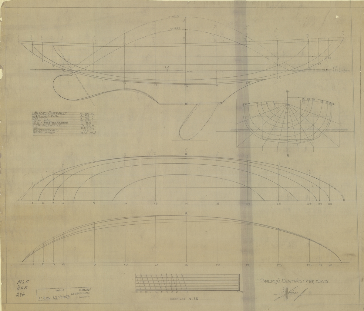 Linjer i plan och profil med spantruta