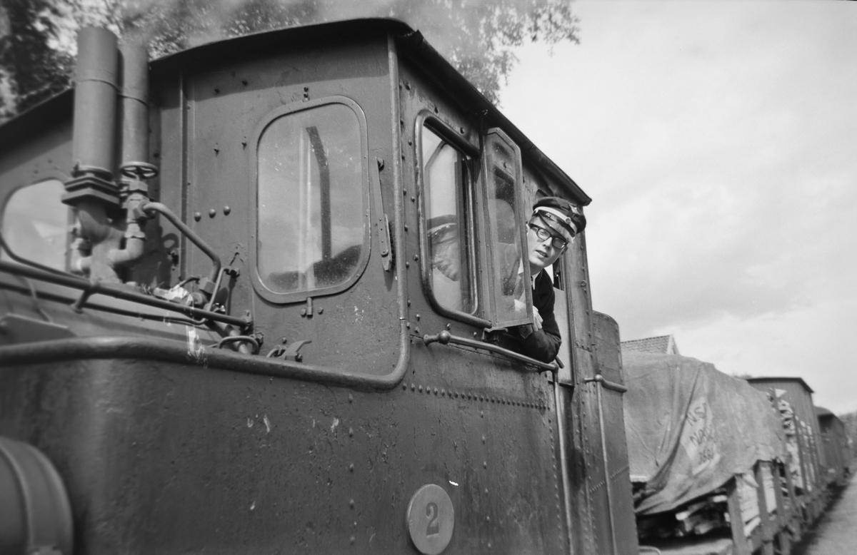 Olaf Wiegels på Setesdalsbanens damplok nr. 2