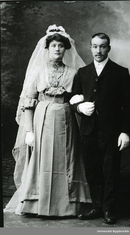 Brureparet  Andres K. Thorset og Sigrid, fødd Jordheim