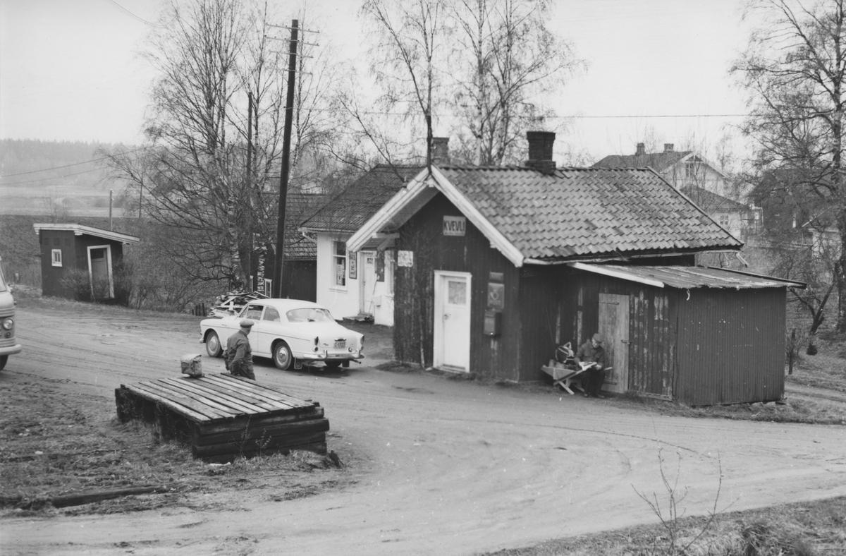 Kvevli stasjon noen år etter nedleggelsen