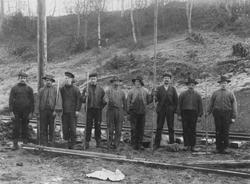 Anleggsarbeidere på Thamshavnbanen.