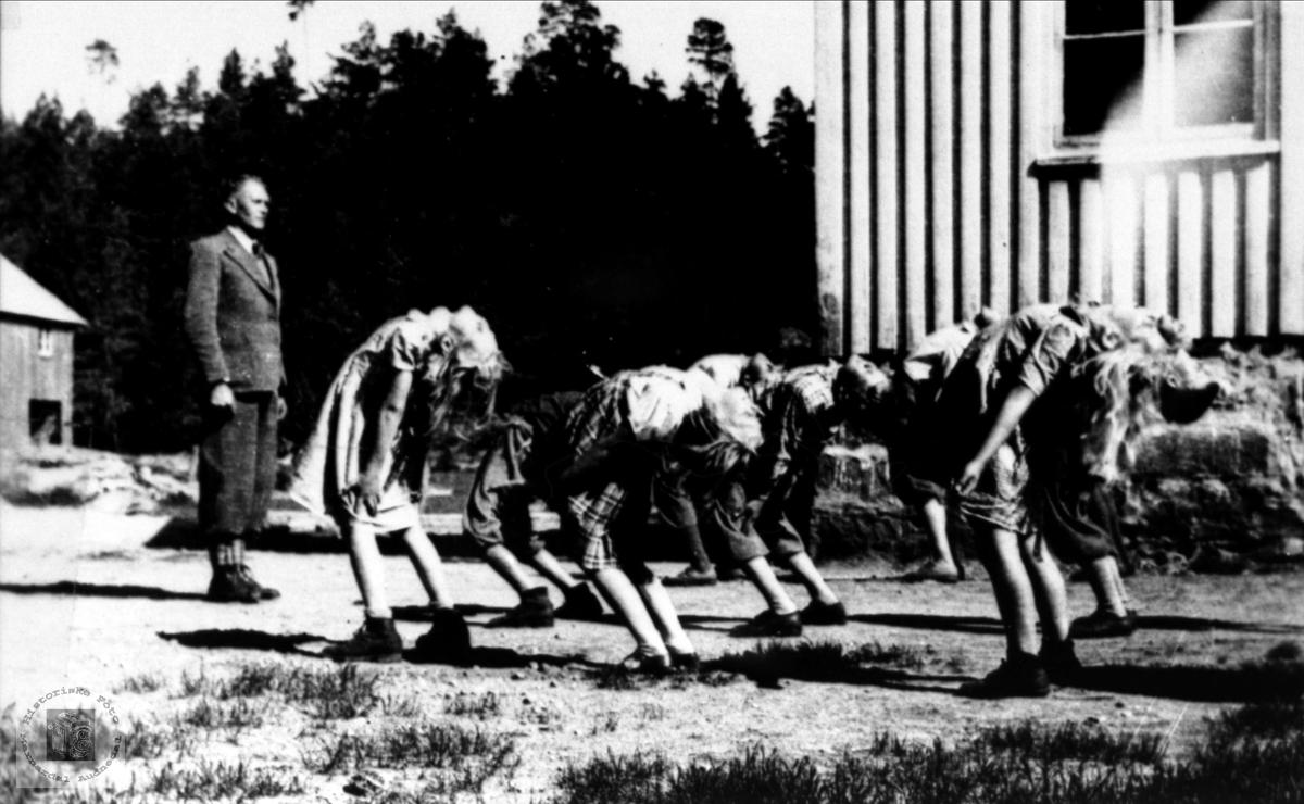 Gymnastikktime på Eikså skole