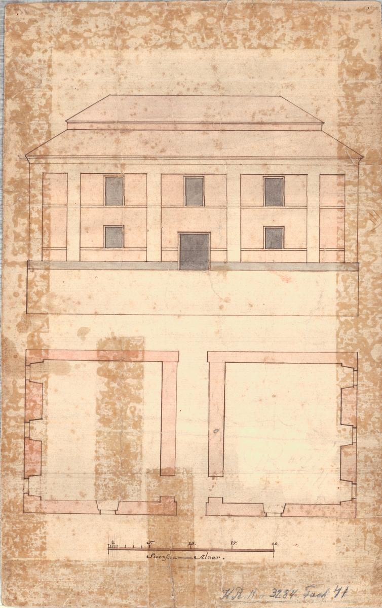 Repslagarebanans brohuvud, Karlskrona Fasad och planritning