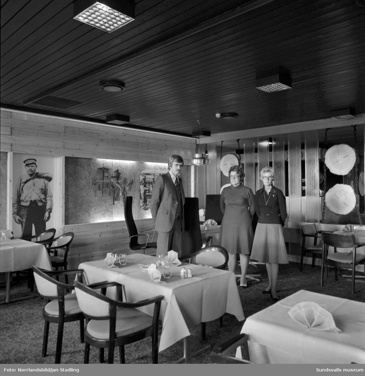Esso Motor Hotell, interiörbilder.