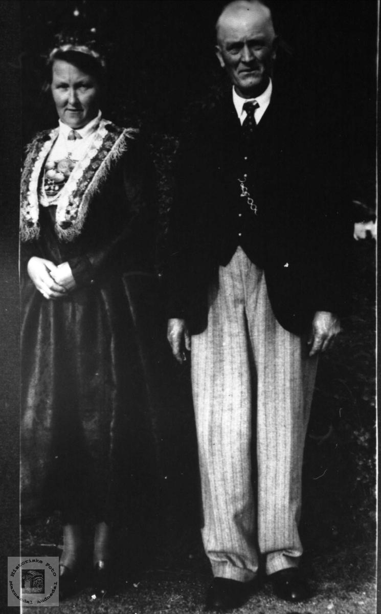 Ekteparet Ingeborg og Håkon Skjævesland