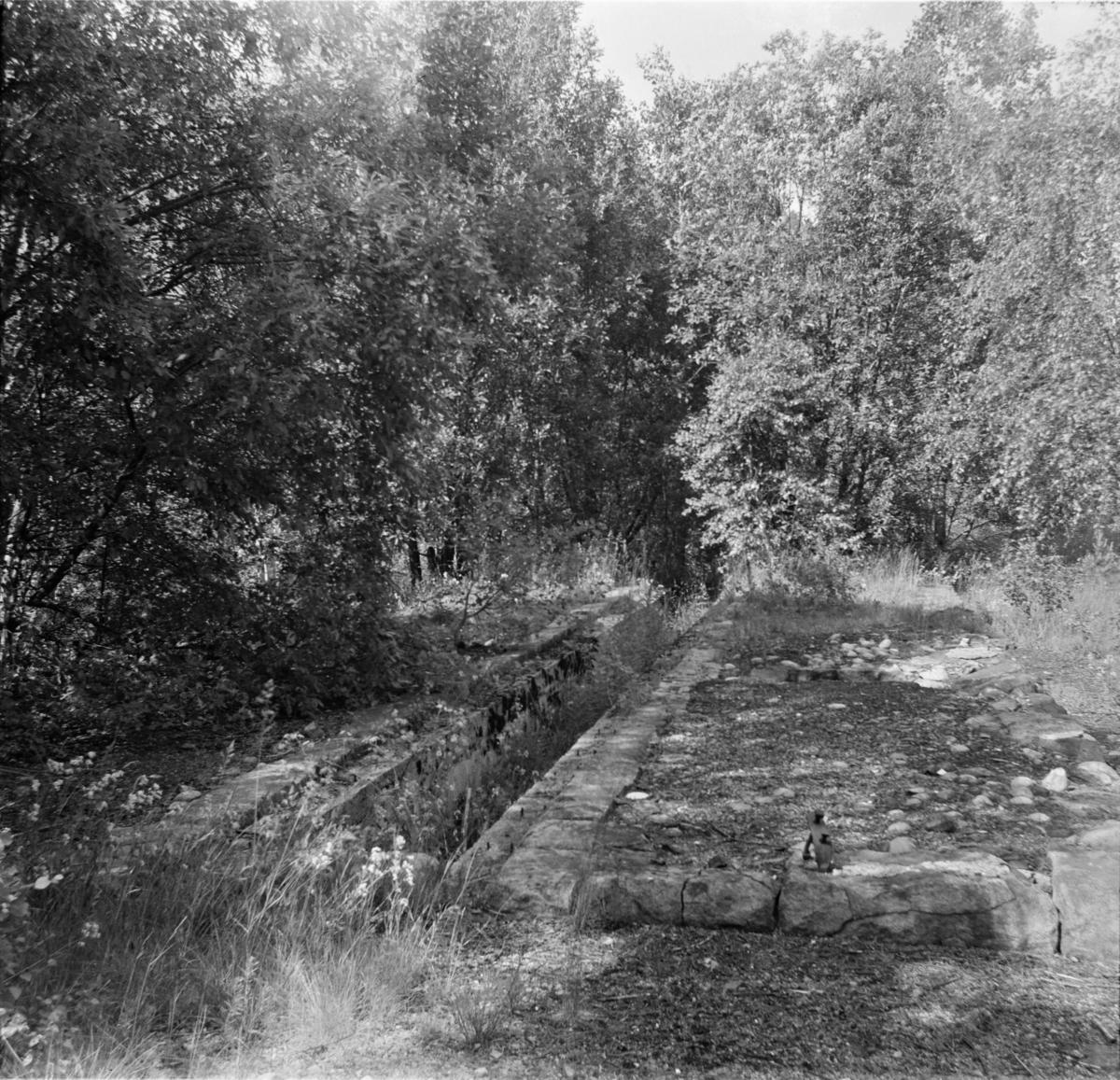 Smøregraven i den gamle smalsporlokomotivstallen på Åmli stasjon.
