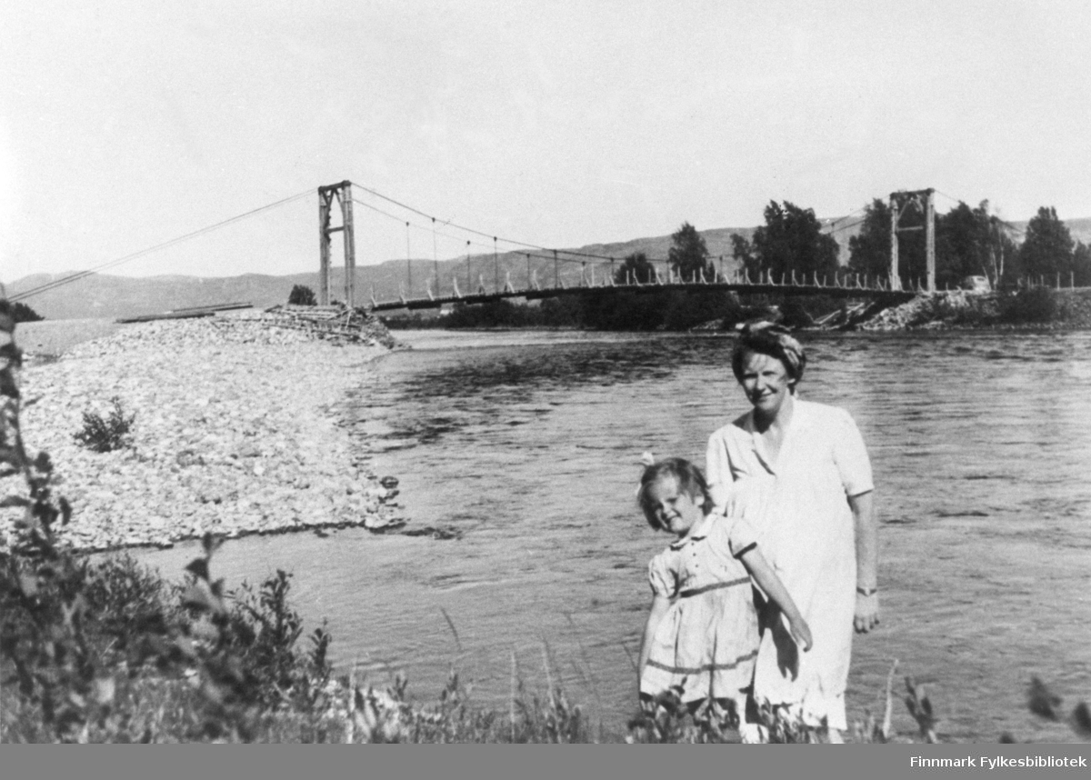 Alta provisoriske hengebro 1946.