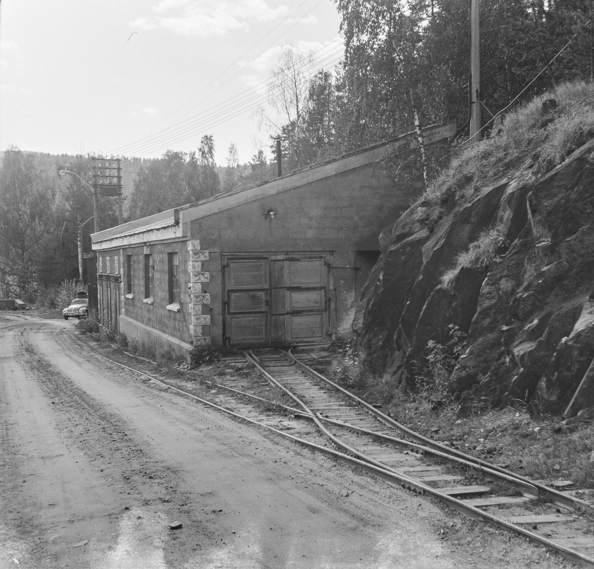 Lokomotivstall ved Sølvgruvene på Kongsberg