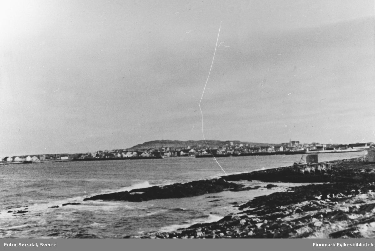 Bildet av Vardø by, 1936.
