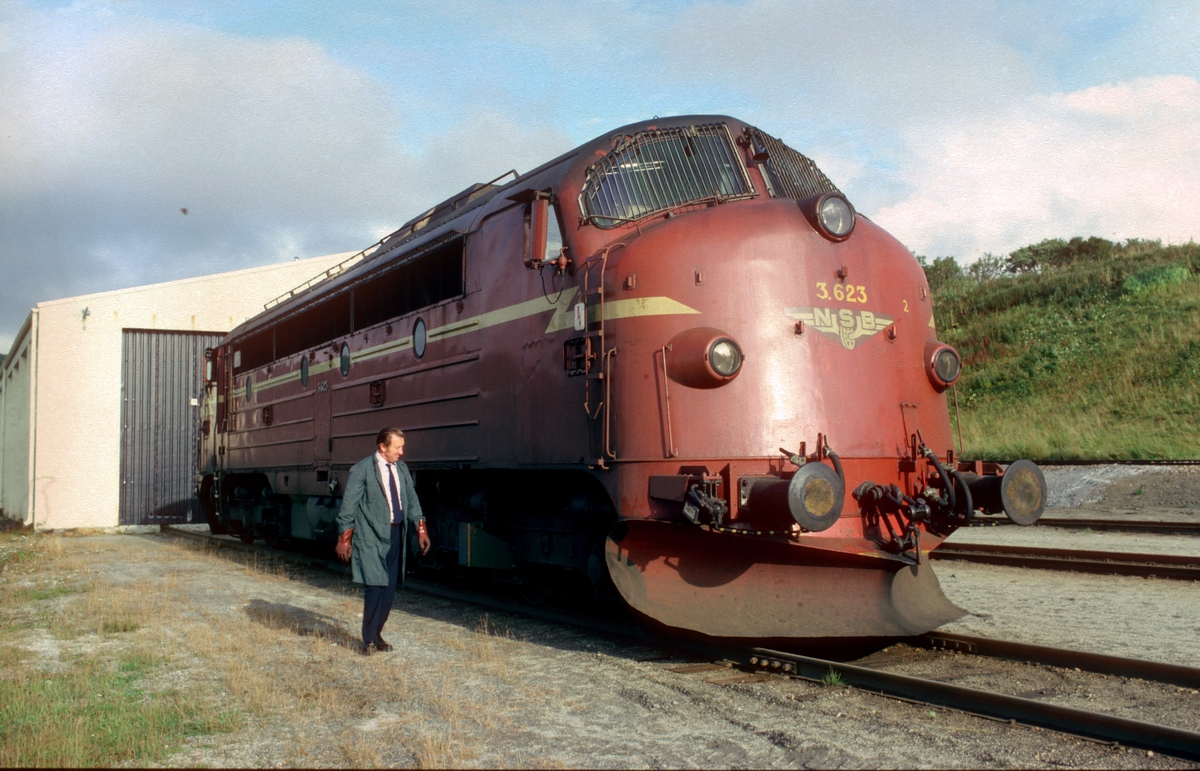 Uttak av lokomotiv Di 3 623 i Bodø til godstog 5794 Bodø - Trondheim.