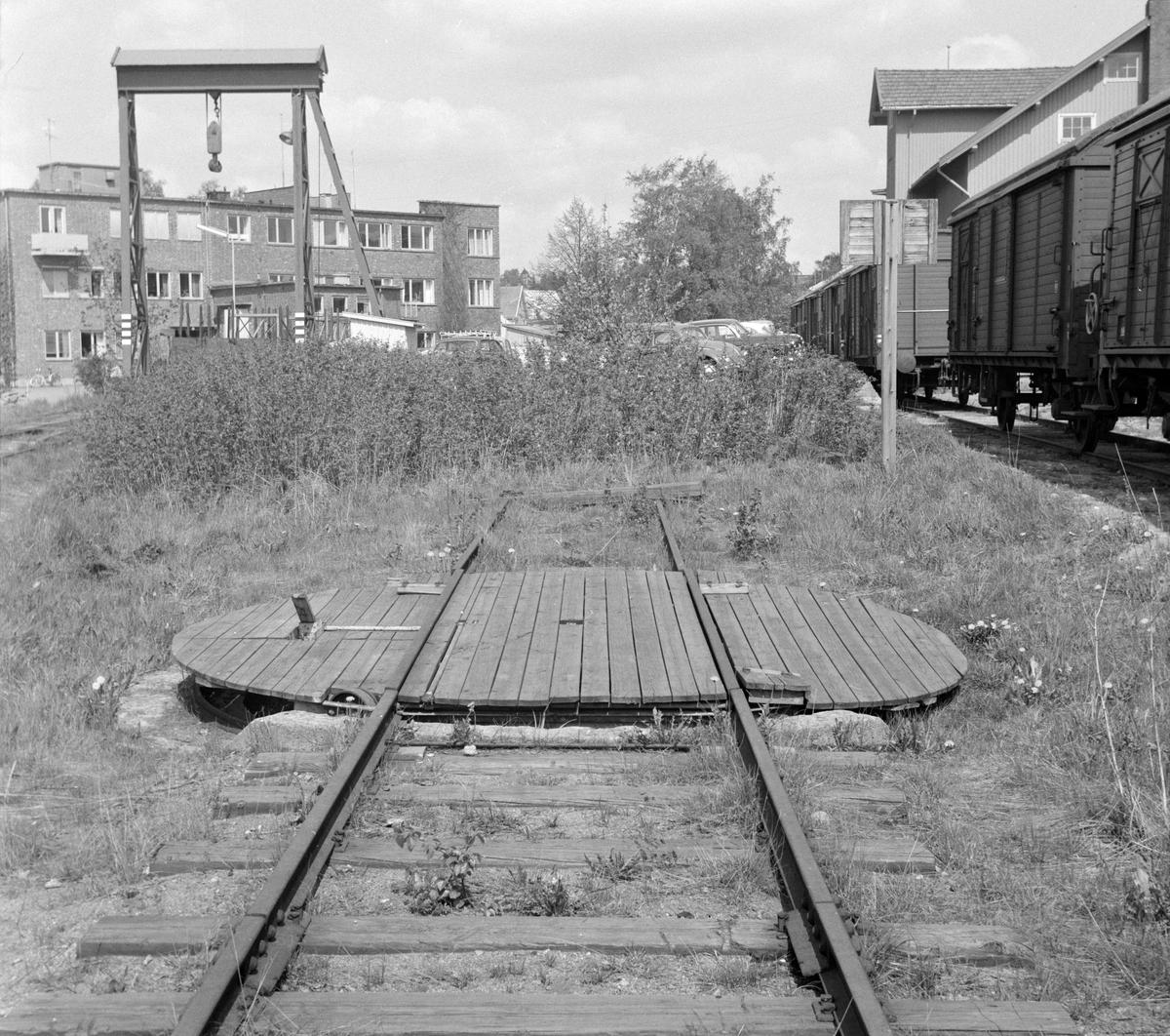 """Svingskiven til """"Gamla"""", motorvognen på Solbergfossbanen."""