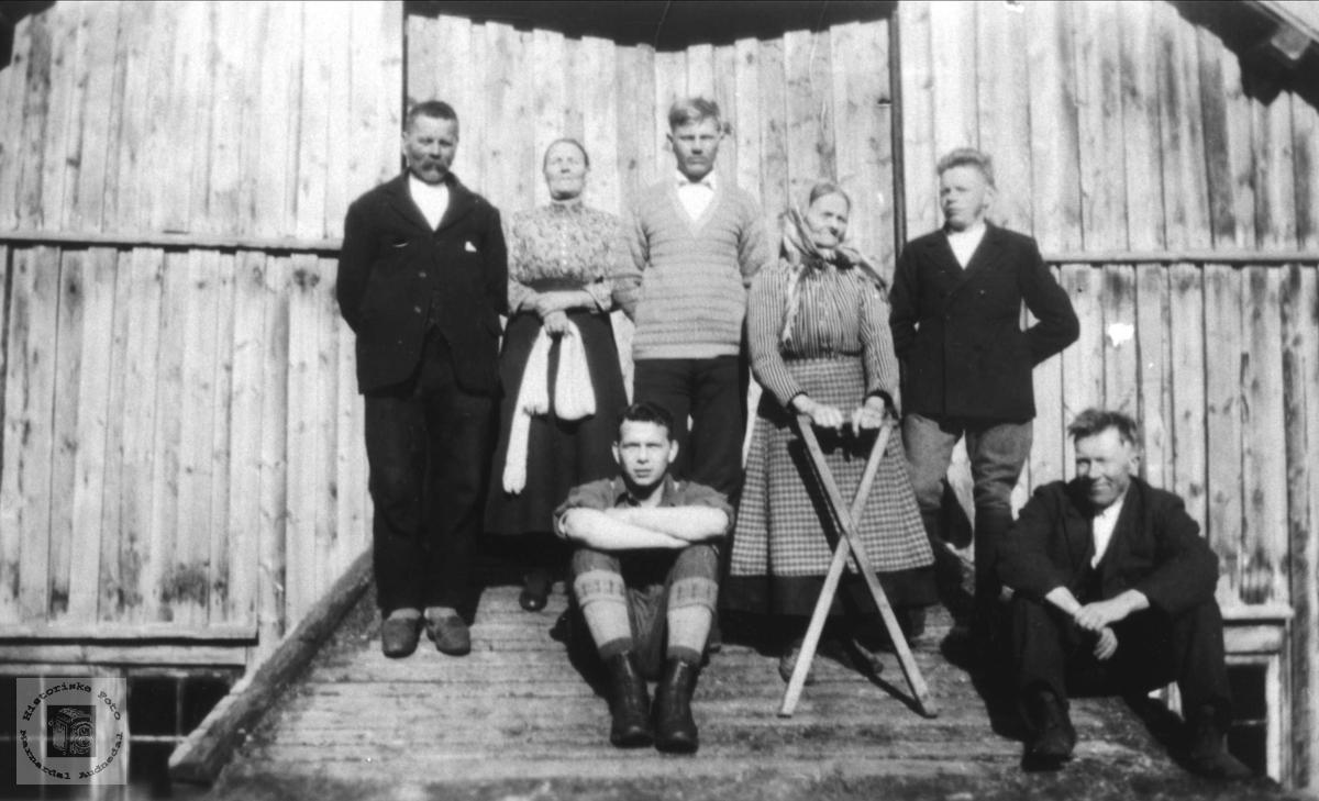 """Personer """"Der aust"""" på Roland i Bjelland"""