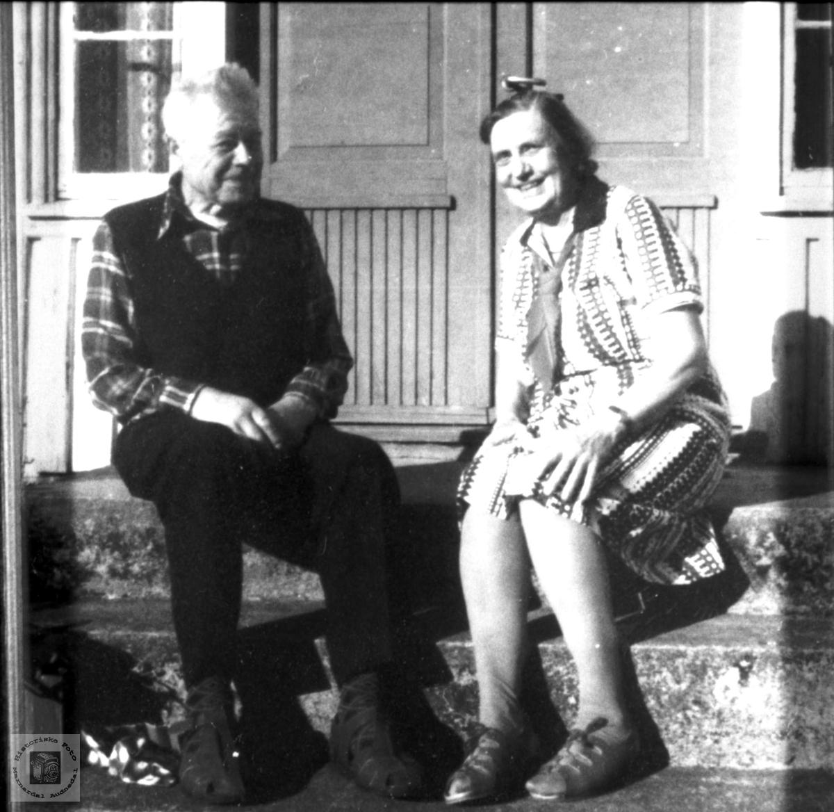 Ekteparet Lars og Sigrid Trygsland