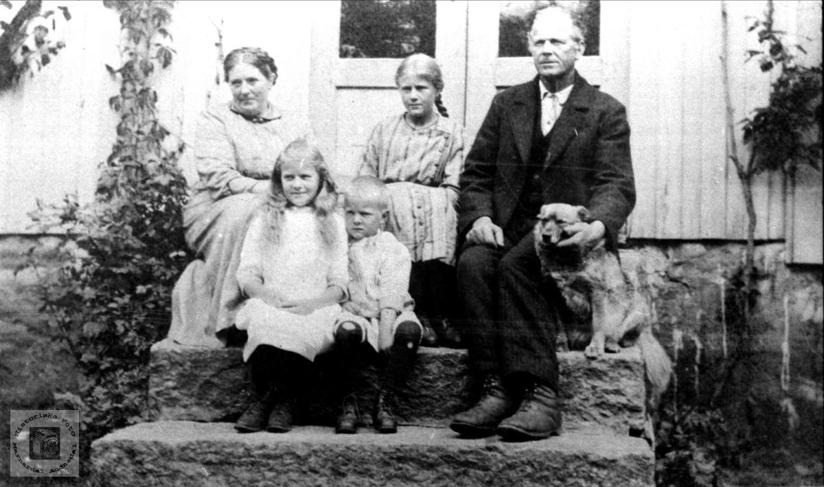Familiebilde på Trygsland