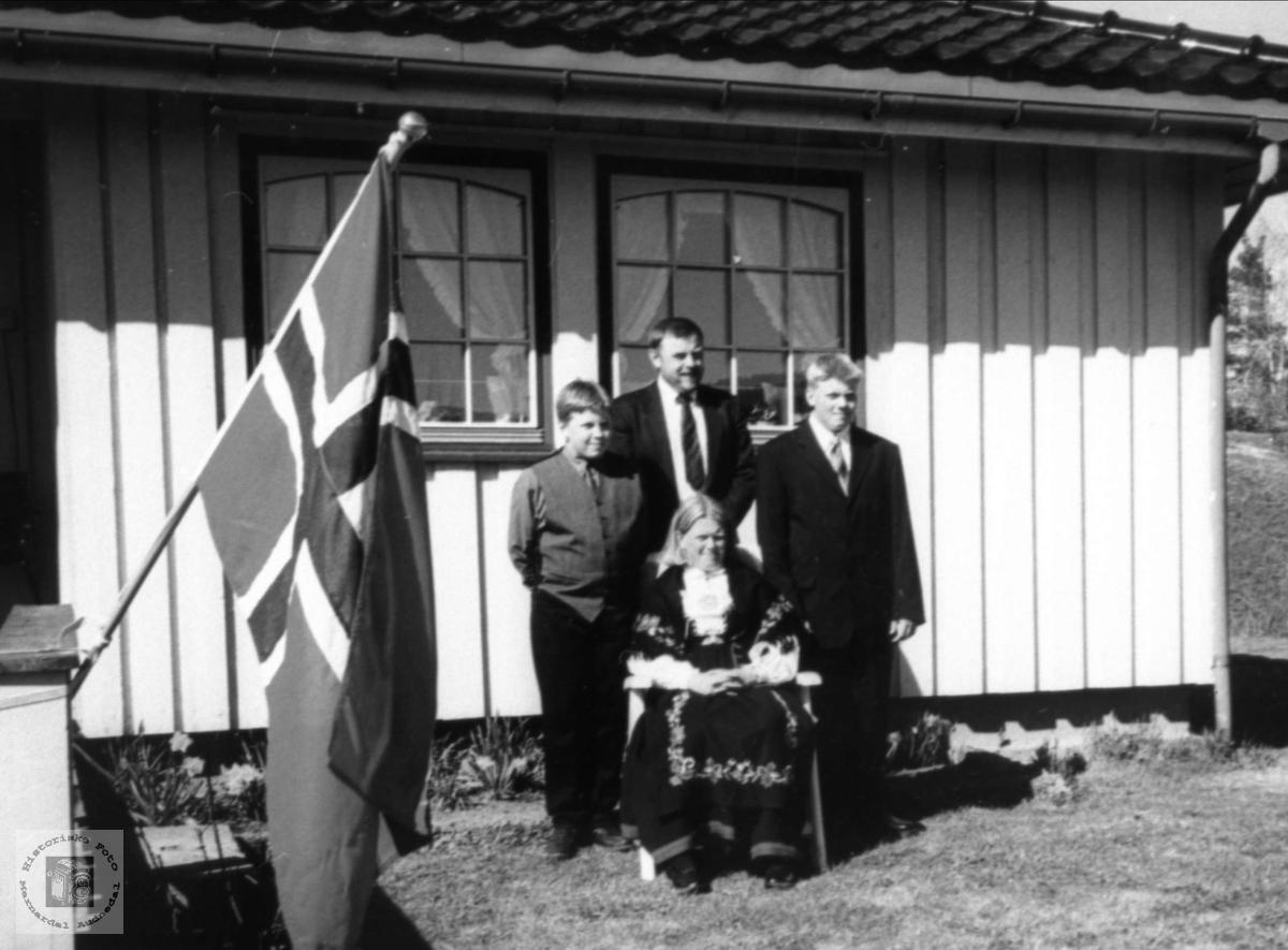 Konfirmasjon på Tønnesland.