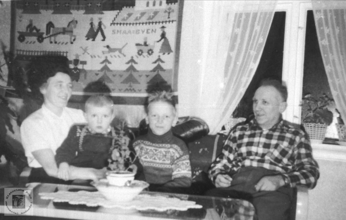 Familiesamling på Koland i Laudal.