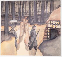 """Kommendantens förläggning (Komandiera """"bundaza"""") [Akvarellmå"""
