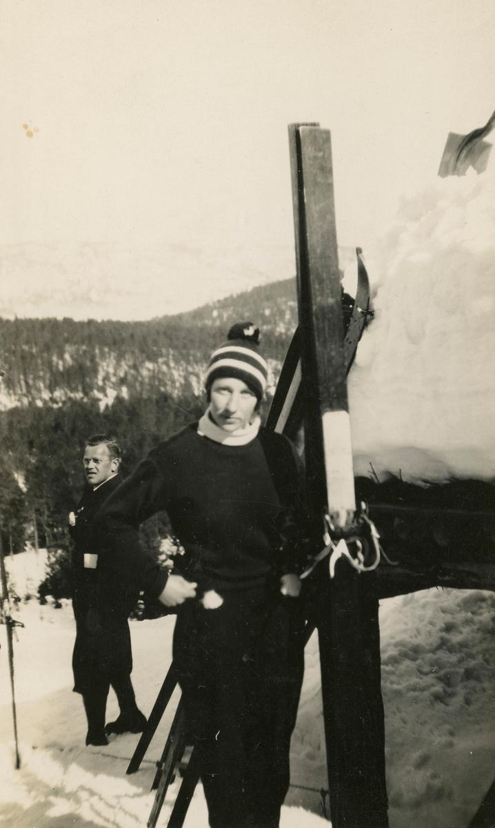 Skihopperen Johanne Kolstad på begynnelsen av 1930-tallet.