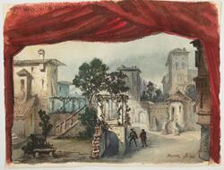 Rigoletto [Akvarellmålning]