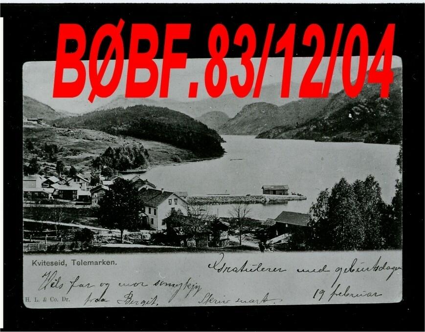 Dublett Erstatta av BØBF.83.05.06.   Postkort med motiv frå Kviteseid