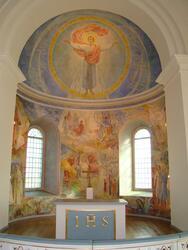 Bankeryds kyrka, Jönköpings kommun. Absidmålning från 1954,