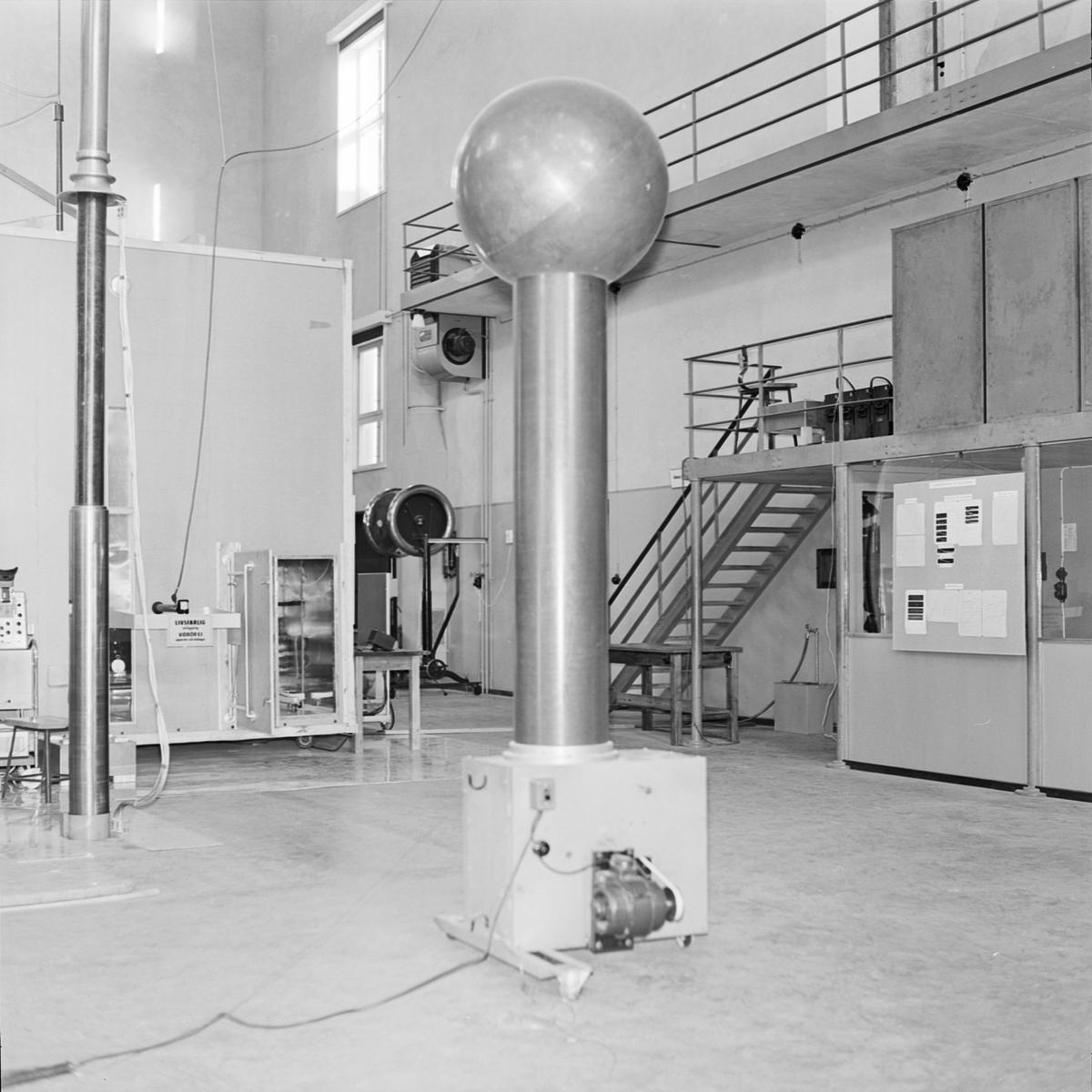 Högspänningslaboratoriet, Uppsala 1964
