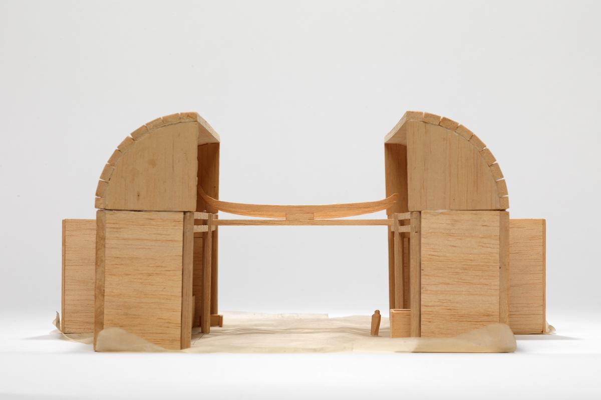 Utkast til kirke i Nordkapp [Studiemodell]