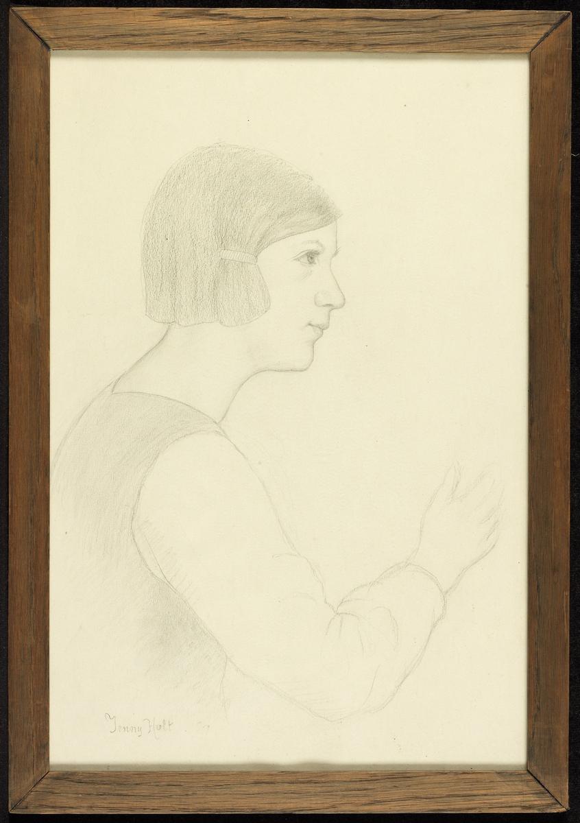 Pike, høyreprof., kort hår m. spenne