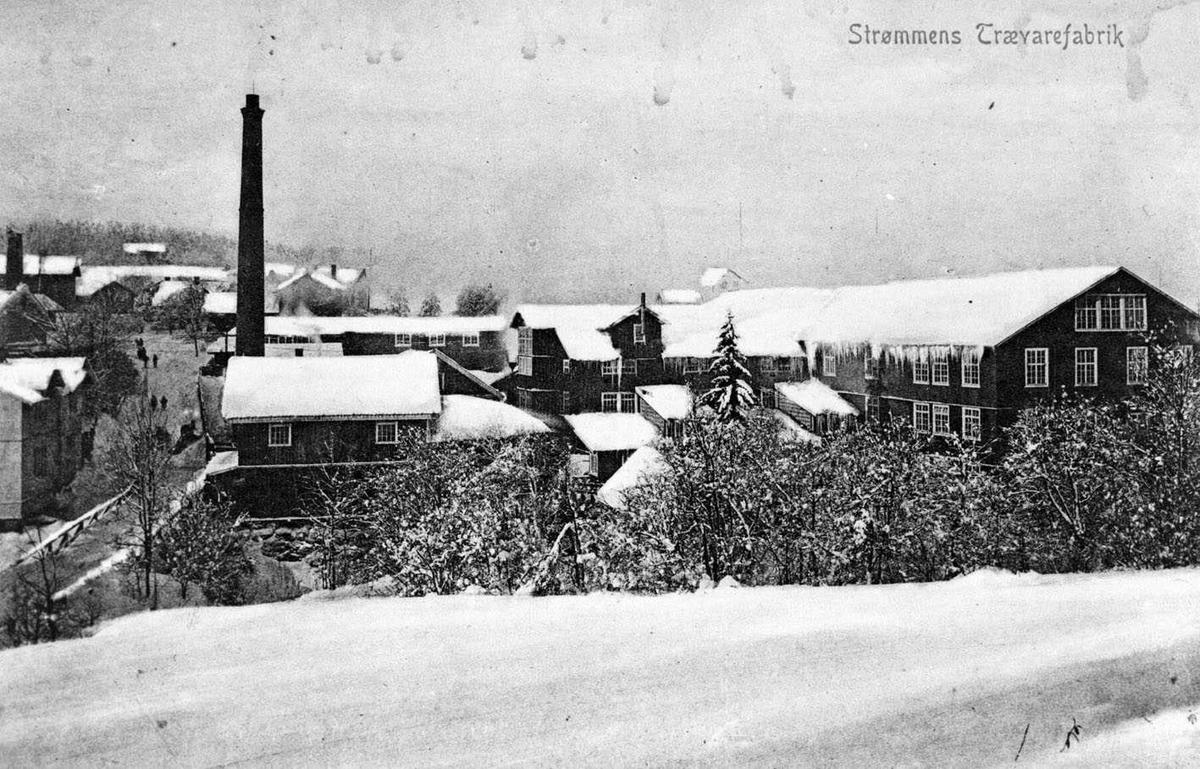 Strømmens Trævarefabrik Postkortfoto