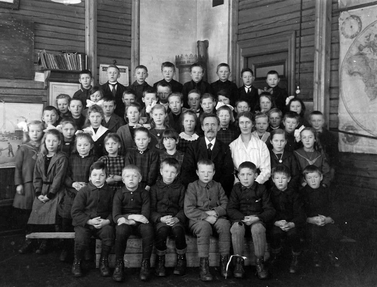 Klassebilde fra Nordkisa skole.