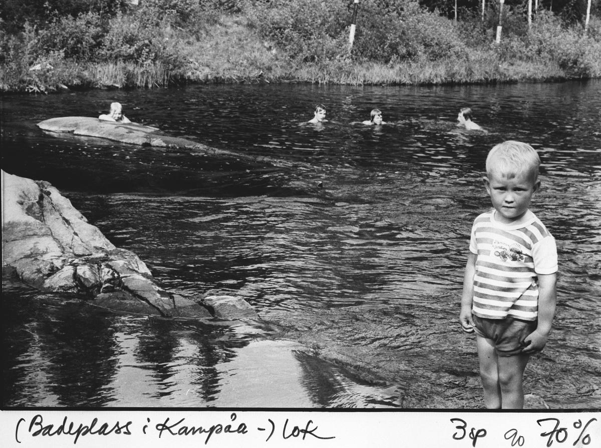 Kvenna. Badeplass i Kampåa.