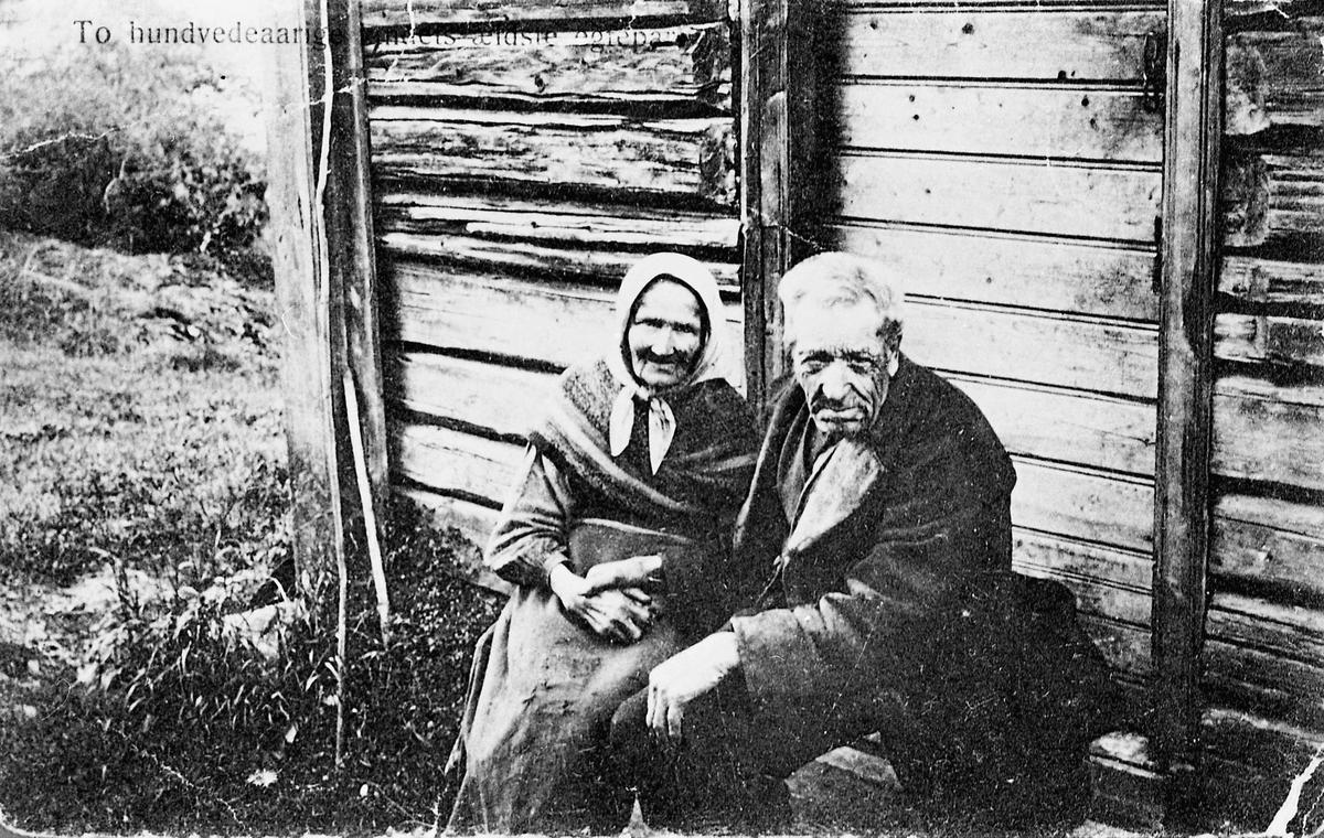 Ragnhild Mathea Nordstun Bækkedal (1815-1907) og Ole Kristoffersen Bækkedal (1821?-1910).