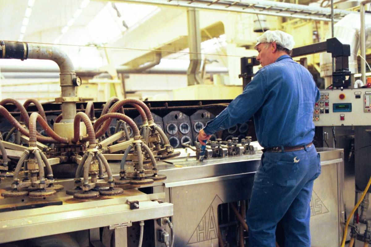 Vaffelovn, arbeider, maskiner, arbeidsmiljø, Start
