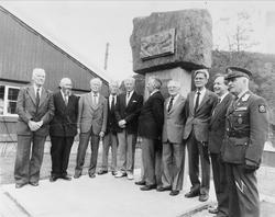 Krigsveteraner samlet ved minnesmerke på Løkken Verk.