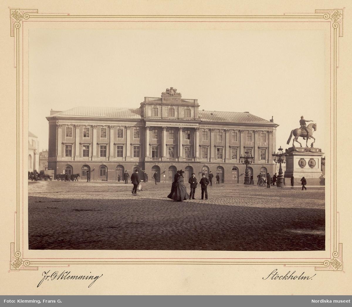 Gustaf III:s operahus vid Gustav Adolfs torg, Stockholm.