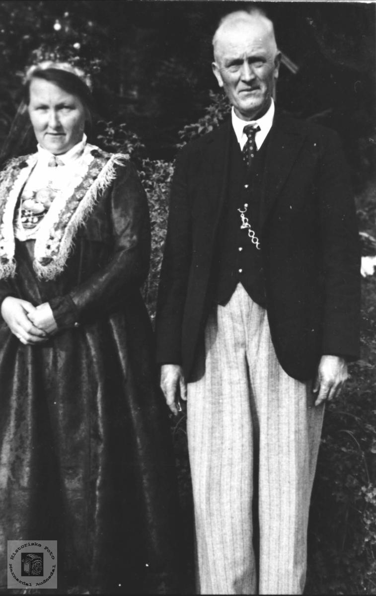 Ekteparet Ingeborg og Håkon Skjævesland, Øyslebø.