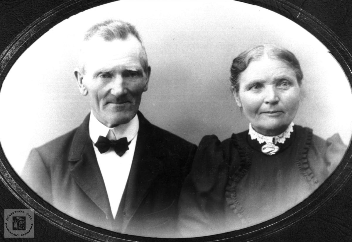Portrett av ekteparet Søren og Anna Øydna, Grindheim.