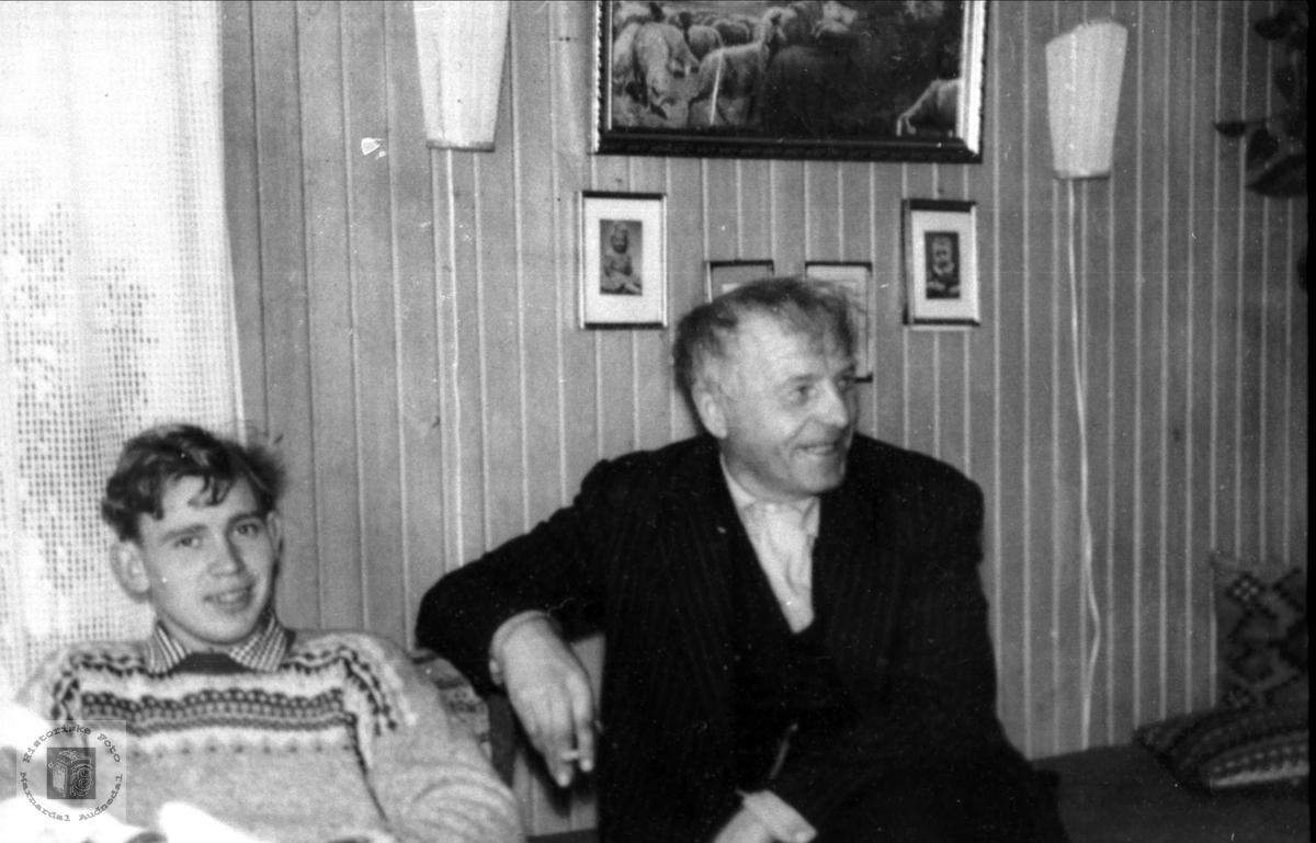 Gruppeportrett. Ola Normann Laudal og Torkel Kleiven.