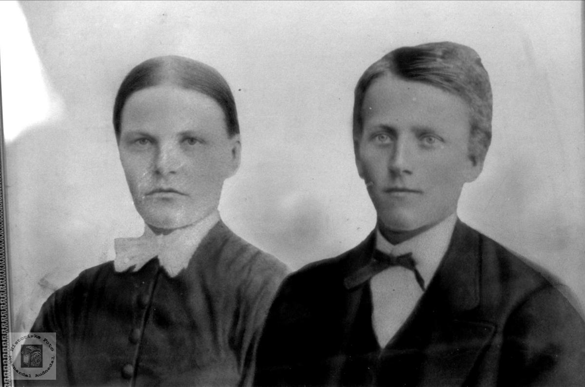 Portrett av Torborg og Sveinu Øislebø, Øyslebø.