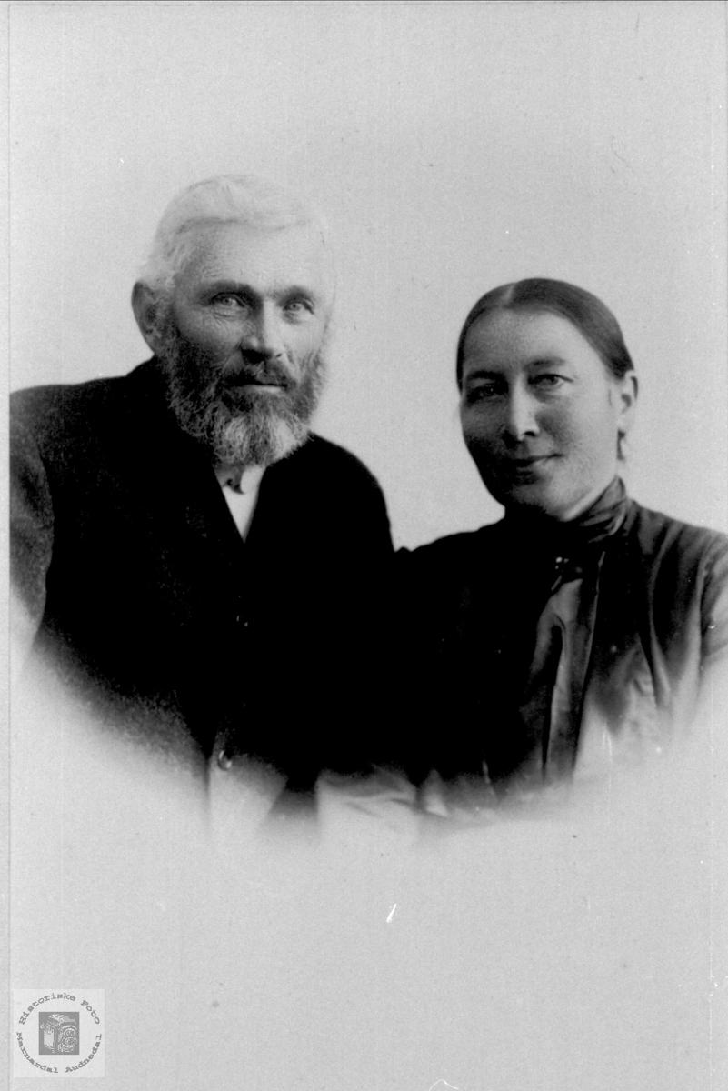 Ekteparet Askjell og Anna Høye, Øyslebø.