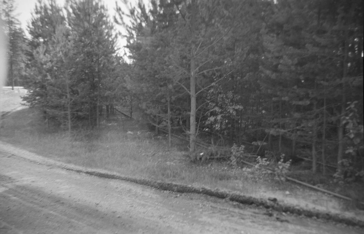 Langs Krøderbanen. Nedlagt sidespor til Ole Liens grustak Det grenet av litt syd for Kløftefoss grustak sidespor og krysset riksveien. Det ligger fremdeles litt igjen av dette sidesporet mellom riksveien og banen.