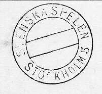 Stämpel, cirkulär med dubbla heldragna ramar den inre cirkeln är avdelad i tre fält. Stämpeln användes av postkontoret Stockholm 5 vid Svenska spelen 1916  8-16/7. Svenska Spelen arrangerades som ersättning för de olympiska spelen i Berlin, vilka blev inställda pga första världskriget. En sk minnespoststämpel.