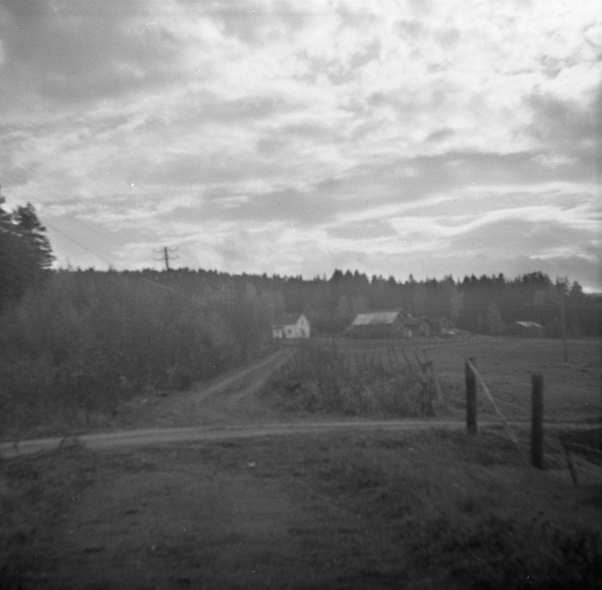 Tertittens tidligere trasé mellom Fossum og Kvevli.